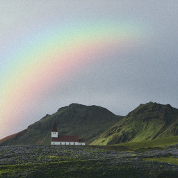 freetoedit myedit rainbow landscape sky