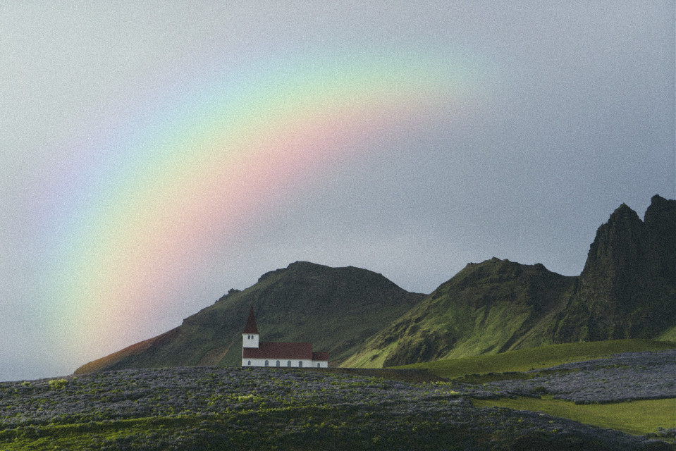 #freetoedit #myedit #rainbow #landscape #sky #cloudy #madewithpicsart #picsarteffects #prismeffect #prism