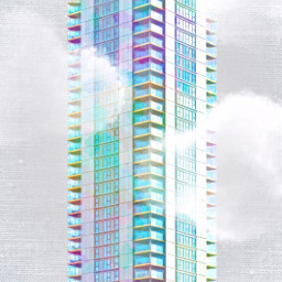 freetoedit colorful overlay architecture skyscraper