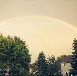 rainbow sky rain summer minnesota freetoedit