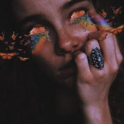 freetoedit picsart eyes butterflies flowers ecflowereyes