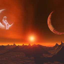 fantasy papicks mars redplanet planet freetoedit