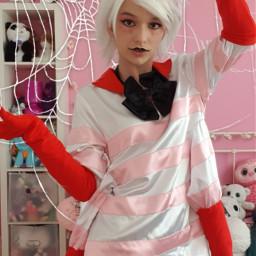 cosplay angeldust angeldustcosplay hazbinhotel hazbinhotelcosplay freetoedit
