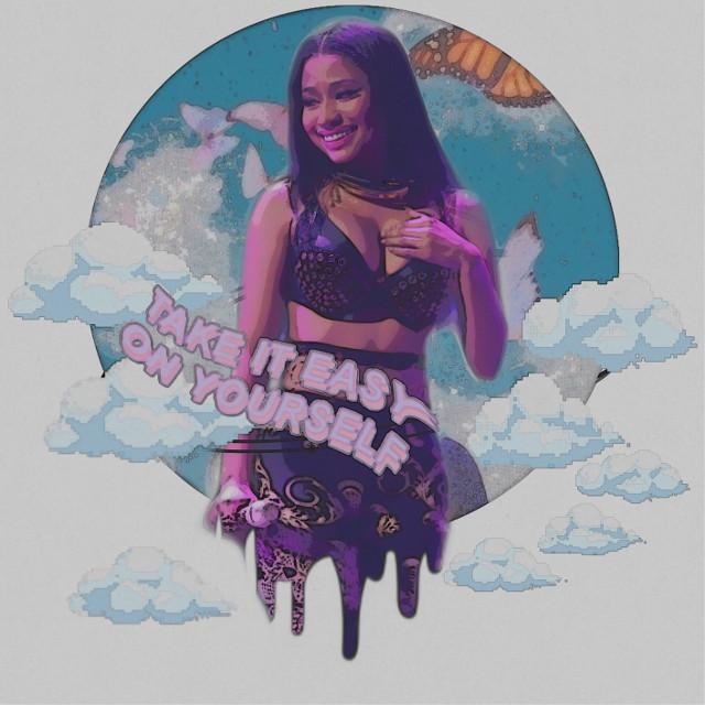 #nickiminaj #nicki #minaj #barbie #barbz #queen #drip #clouds #butterflies #nickiminajedit #longhair #freetoedit #replay