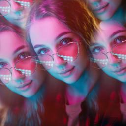 freetoedit replay girl caleydoscop neon