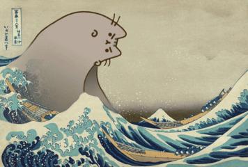 freetoedit tsunami pusheen