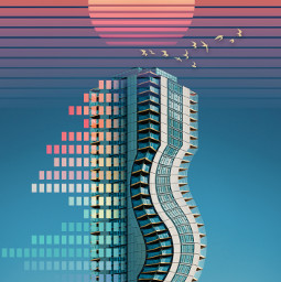freetoedit skyscraper stretchtool retro colorful