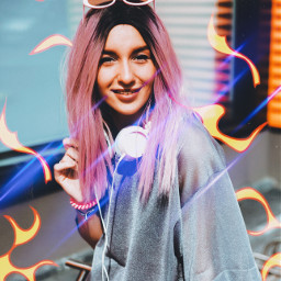 freetoedit fire flames trendy neon