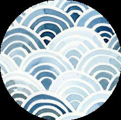 sticker watercolor blue circle aesthetic freetoedit