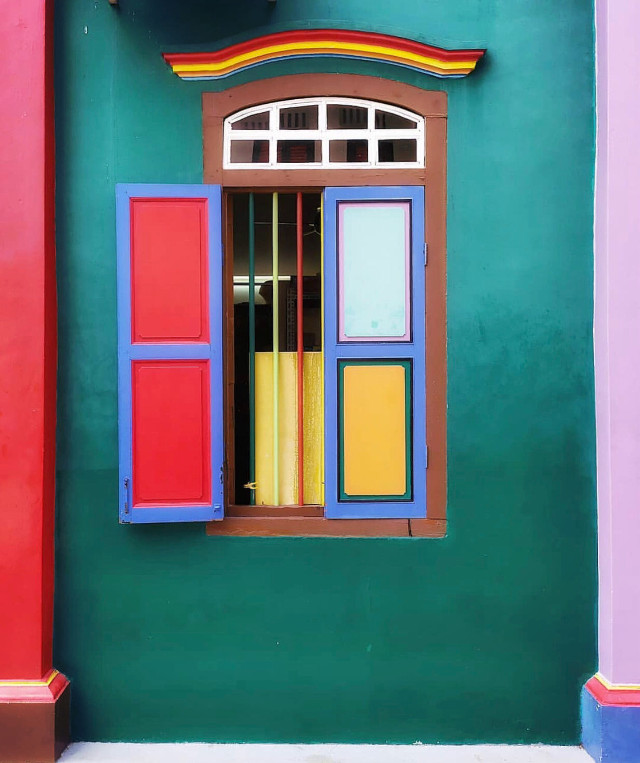 #urbanexploration #house #facade #architecture #window #woodenshutters #ironbarsprotection #colorfulaesthetics #boldcolors #uniqueness #style #naïf #primarycolors #colorfulworld #urbanexploringphotography   #freetoedit