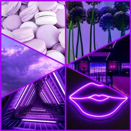 purple aesthetic flowers macaron sky freetoedit