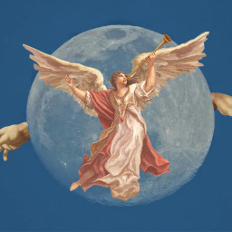 freetoedit angel renaissance art moon