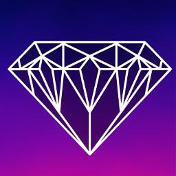 purple blue ombre gradient jewel