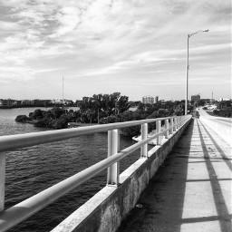 freetoedit blackandwhite bridge water sky