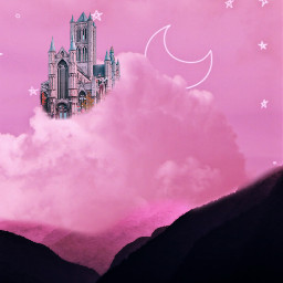freetoedit vipshoutout surreal clouds pink