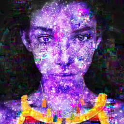 freetoedit galaxy glitch rainbow pride