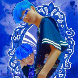 blue white jisung nctjisung kpop