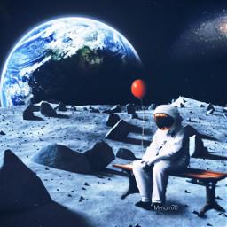 freetoedit spacelovers surrealart astronaut myriam70