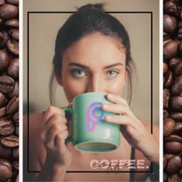 replay portrait coffee girl freetoedit