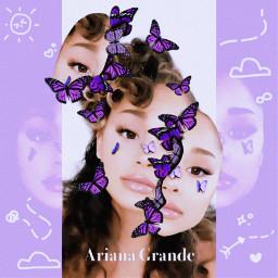 arianagrande ariana grande purple butterfly freetoedit