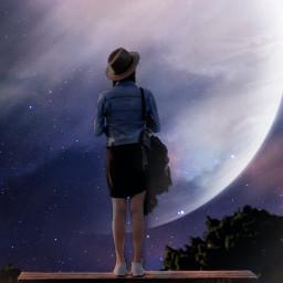 freetoedit galaxy galaxyedit moon sky