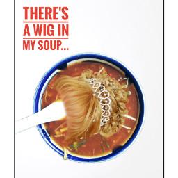 freetoedit justforfun soup wig stickers