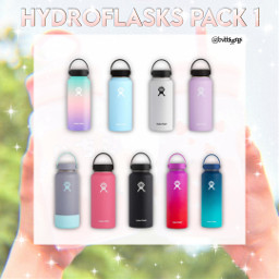 hydro flasks colorful pngpack png freetoedit
