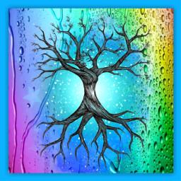 freetoedit treeoflife rainbow promise evil day