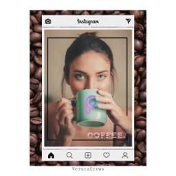 portrait girl coffee collage freetoedit