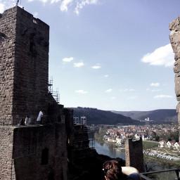 medieval castle blueskyandclouds