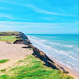 denmark travel cliff northsea view