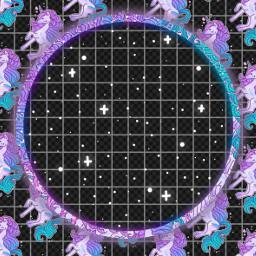 freetoedit frestickers unicornio frame circulo