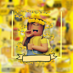 freetoedit yellow yellowaesthetic roblox robloxgirl