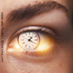 freetoedit vipshoutout clock eye fantastic