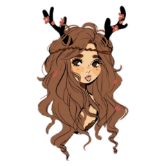 freetoedit naturegirl nature girl antler