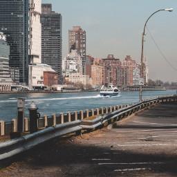 ferry boat newyork sunnyday citylife freetoedit