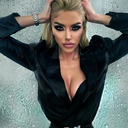freetoedit face model makeup blonde