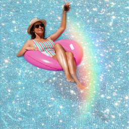 freetoedit pool poolparty glitter glitteroverlay