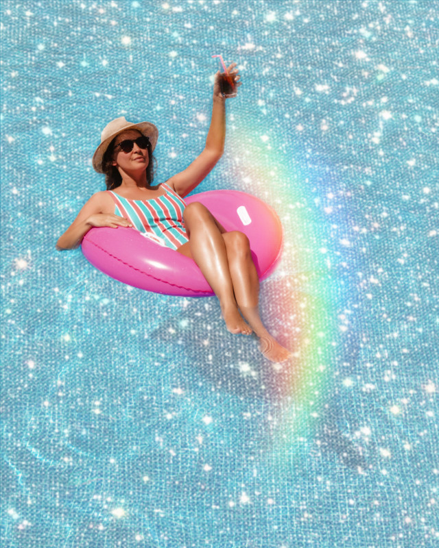 #freetoedit #pool #poolparty #glitter #glitteroverlay #sparkles #rainbow #prism