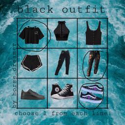 freetoedit black outfit blackoutfit remix