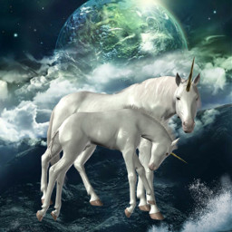 freetoedit fantasyart fantasy otherworldly unicorn