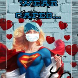 freetoedit heroes essentialworkers frontline superwoman