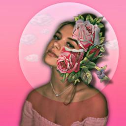 freetoedit roses rosesticker model pink