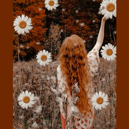 freetoedit redhairgirl redhair rcflowerpower flowerpower