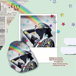 replay portrait rainbow collage freetoedit