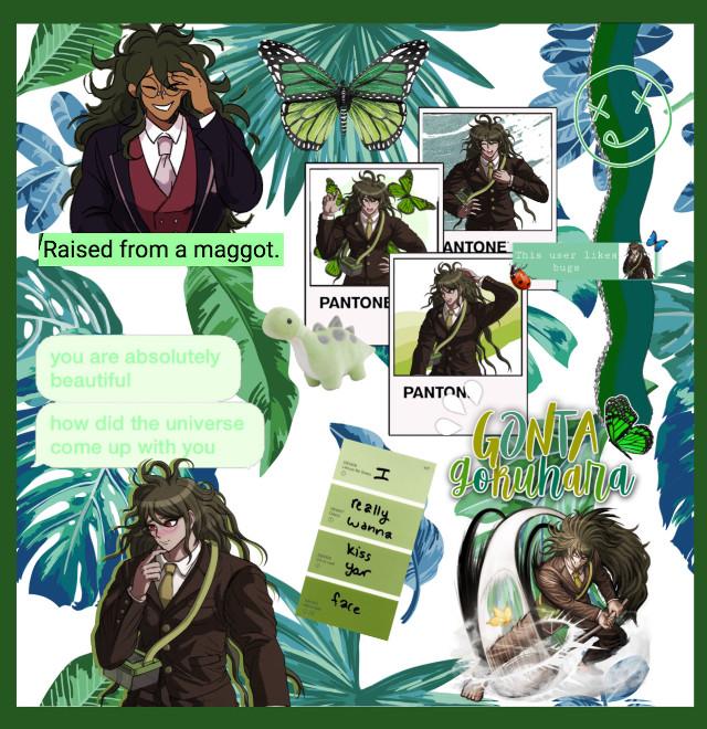#gontagokuhara #gonta #gokuhara #danganronpav3killingharmony #drv3 #greenaesthetic #green #aesthetic #collage  #freetoedit