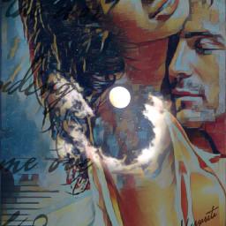 freetoedit love couple romantic moon
