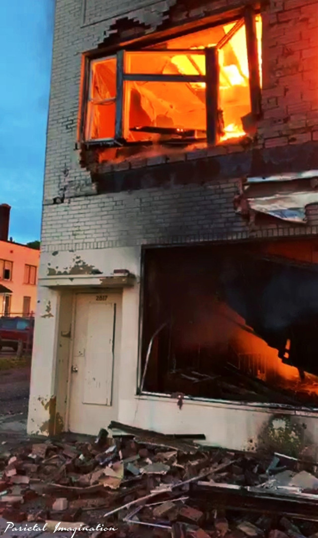 Businesses burn during rioting on Minneapolis, Minnesota.  Photo by: Parietal Imagination Art @pa, May 27th, 2020 #minneapolis #minnesota #protests #riots #georgeflynn #donotedit #myphoto #myphotography #vip #parietalimagination