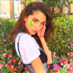 pfp profilepic model greenery flowers freetoedit