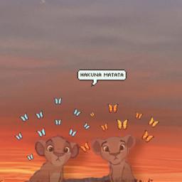 freetoedit hakunamatata lionking nature sunsetvibes